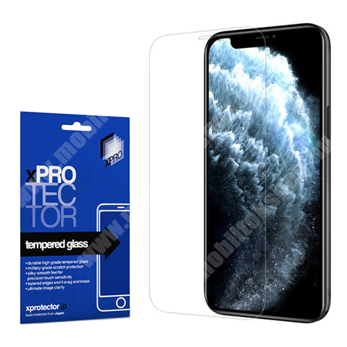 Xpro előlap védő karcálló edzett üveg - 0,33 mm vékony, 9H, Arc Edge, A képernyő sík részét védi - APPLE iPhone 12 / APPLE iPhone 12 Pro - GYÁRI