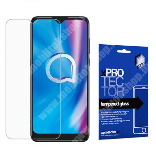 Xpro előlap védő karcálló edzett üveg - 0,33 mm vékony, 9H, Arc Edge, A képernyő sík részét védi - ALCATEL 1S (2020) (OT-5028D) / ALCATEL 1V (2020) / ALCATEL 3L (2020) - GYÁRI