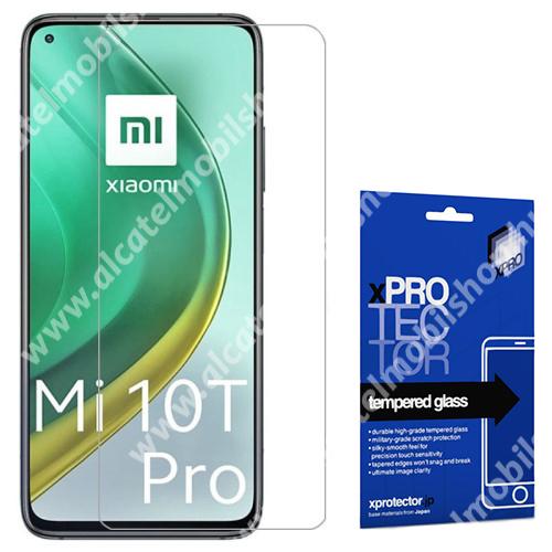 Xpro előlap védő karcálló edzett üveg - 0,33 mm vékony, 9H, Arc Edge, A képernyő sík részét védi - Xiaomi Mi 10T 5G / Mi 10T Pro 5G / Redmi K30S - GYÁRI