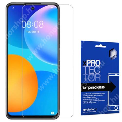 Xpro előlap védő karcálló edzett üveg - 0,33 mm vékony, 9H, Arc Edge, A képernyő sík részét védi - HUAWEI P smart 2021 / HUAWEI Y7a - GYÁRI