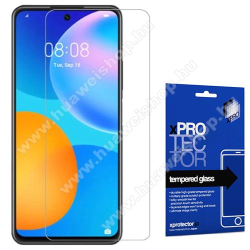 Xpro előlap védő karcálló edzett üveg - 0,33 mm vékony, 9H, Arc Edge, A képernyő sík részét védi - HUAWEI P smart (2021) / HUAWEI Y7a - GYÁRI