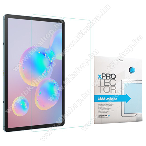 Xpro előlap védő karcálló edzett üveg - 0,33 mm vékony, 9H, Arc Edge, A képernyő sík részét védi - SAMSUNG Galaxy Tab S6 Wi-Fi (SM-T860) / Galaxy Tab S6 LTE (SM-T865) - GYÁRI