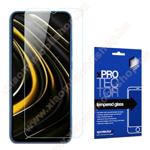 Xpro előlap védő karcálló edzett üveg - 0,33 mm vékony, 9H, Arc Edge, A képernyő sík részét védi - Xiaomi Poco M3 / Redmi 9T / Redmi 9 Power - GYÁRI