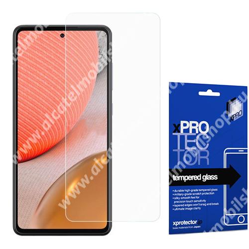 Xpro előlap védő karcálló edzett üveg - 0,33 mm vékony, 9H, Arc Edge, A képernyő sík részét védi - SAMSUNG Galaxy A72 5G (SM-A726F) / Galaxy A72 4G (SM-A725F) - GYÁRI