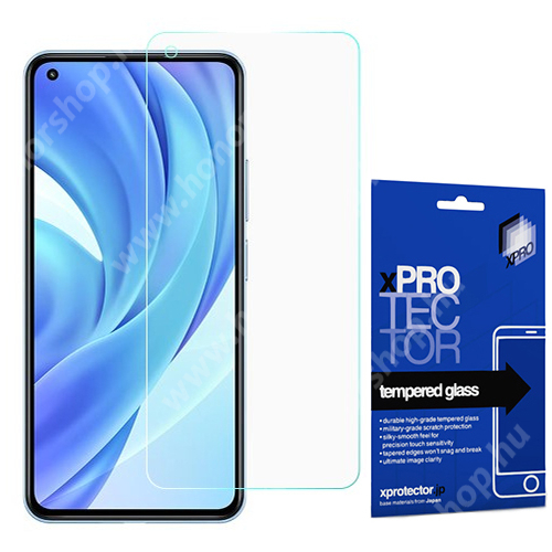 Xpro előlap védő karcálló edzett üveg - 0,33 mm vékony, 9H, Arc Edge, A képernyő sík részét védi - Xiaomi Mi 11 Lite / Xiaomi Mi 11 Lite 5G - GYÁRI