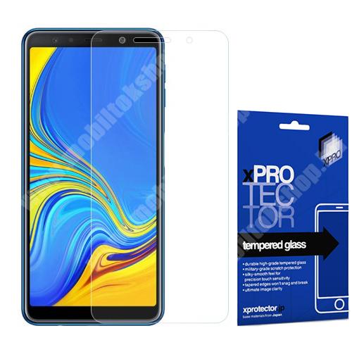 Xpro előlap védő karcálló edzett üveg - 0,33 mm vékony, 9H, Arc Edge, A képernyő sík részét védi - SAMSUNG SM-A750F Galaxy A7 (2018) - GYÁRI