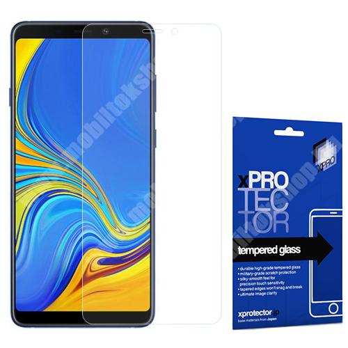 Xpro előlap védő karcálló edzett üveg - 0,33 mm vékony, 9H, Arc Edge, A képernyő sík részét védi - SAMSUNG Galaxy A9 (2018) - GYÁRI