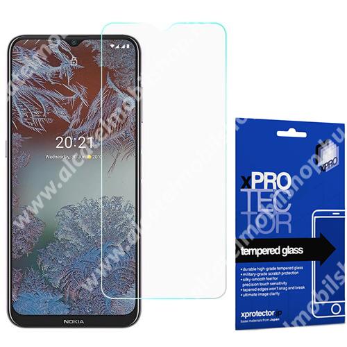 Xpro előlap védő karcálló edzett üveg - 0,33 mm vékony, 9H, Arc Edge, A képernyő sík részét védi - NOKIA G10 / NOKIA G20 - GYÁRI