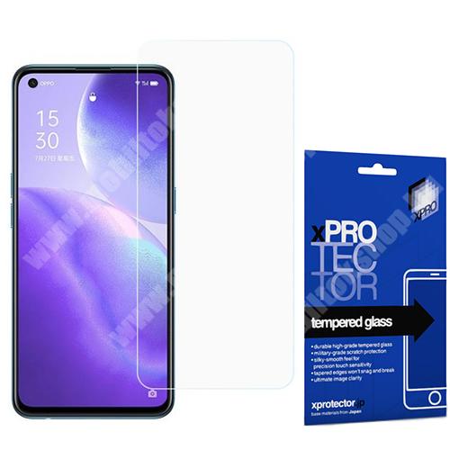Xpro előlap védő karcálló edzett üveg - 0,33 mm vékony, 9H, Arc Edge, A képernyő sík részét védi - Oppo Find X3 Lite / Reno5 5G / Reno5 4G / Reno5 K - GYÁRI