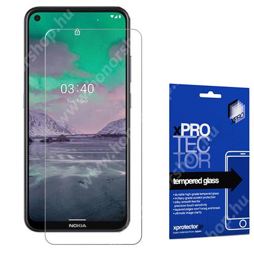 Xpro előlap védő karcálló edzett üveg - 0,33 mm vékony, 9H, Arc Edge, A képernyő sík részét védi - NOKIA 3.4 - GYÁRI
