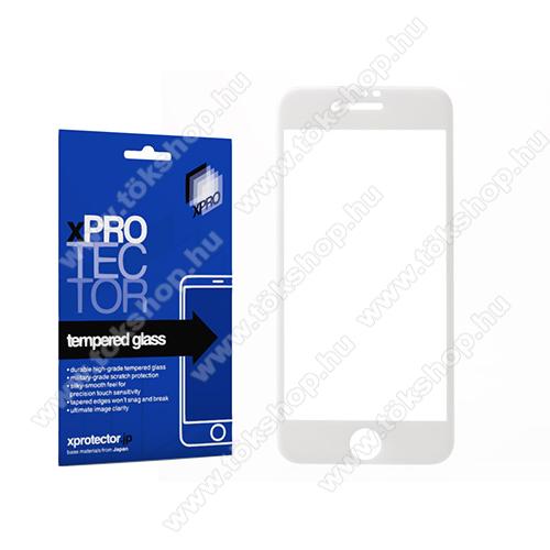 Xpro előlap védő karcálló edzett üveg - FEHÉR - 9H, 0,33mm - A TELJES KIJELZŐT VÉDI! - APPLE iPhone SE (2020) / APPLE iPhone 7 / APPLE iPhone 8 / APPLE iPhone 6 / APPLE iPhone 6S - GYÁRI