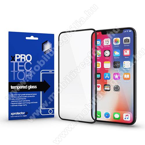 Xpro előlap védő karcálló edzett üveg - FEKETE - 9H, 0,33mm - A TELJES KIJELZŐT VÉDI! - APPLE iPhone 11 Pro Max / APPLE iPhone XS Max - GYÁRI