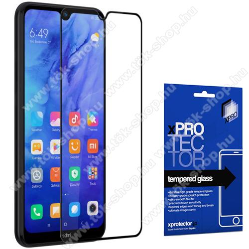 Xpro előlap védő karcálló edzett üveg - FEKETE - 9H, 0,33mm, A teljes felületén tapad! - A TELJES KIJELZŐT VÉDI! - Xiaomi Redmi Note 8T - GYÁRI