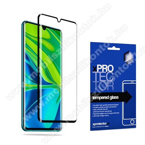 Xpro előlap védő karcálló edzett üveg - FEKETE - 9H, 0,33mm, A teljes felületén tapad - Xiaomi Mi Note 10 / Xiaomi Mi Note 10 Pro / Xiaomi Mi CC9 Pro / Xiaomi Mi Note 10 Lite - A TELJES KIJELZŐT VÉDI! - GYÁRI