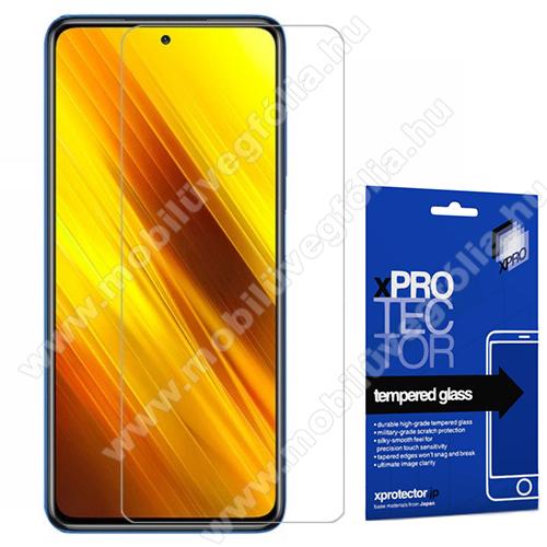 Xpro előlap védő karcálló edzett üveg - FEKETE - 9H, 0,33mm, A teljes felületén tapad! - A TELJES KIJELZŐT VÉDI! - Xiaomi Poco X3 / Xiaomi Poco X3 NFC - GYÁRI