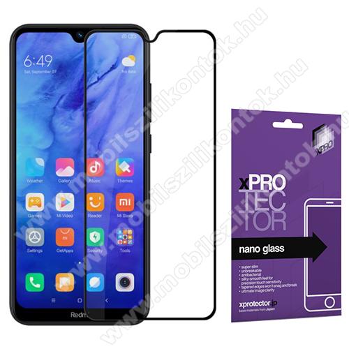 Xpro Flexible 9H Nano Glass rugalmas edzett üveg - FEKETE - 0,15 mm vékony, A TELJES KIJELZŐT VÉDI! - Xiaomi Redmi Note 8T - GYÁRI