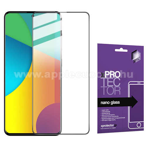 Xpro Flexible 9H Nano Glass rugalmas edzett üveg - FEKETE - 0,15 mm vékony, A TELJES KIJELZŐT VÉDI! - SAMSUNG Galaxy A51 (SM-A515F) / SAMSUNG Galaxy A51 5G (SM-A516F) - GYÁRI