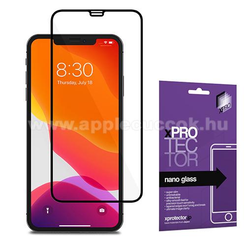 Xpro Flexible 9H Nano Glass rugalmas edzett üveg - FEKETE - 0,15 mm vékony, A TELJES KIJELZŐT VÉDI! - APPLE iPhone 11 Pro Max / APPLE iPhone XS Max - GYÁRI