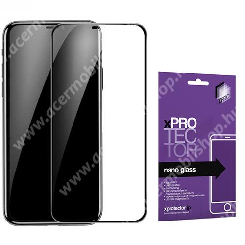 Xpro Flexible 9H Nano Glass rugalmas edzett üveg - FEKETE - 0,15 mm vékony, A TELJES KIJELZŐT VÉDI! - APPLE iPhone 11 Pro / APPLE iPhone X / APPLE iPhone XS - GYÁRI