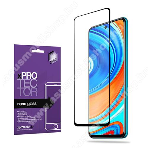 Xpro Flexible 9H Nano Glass rugalmas edzett üveg - FEKETE - 0,15 mm vékony, A TELJES KIJELZŐT VÉDI! - Xiaomi Redmi Note 9S / Redmi Note 9 Pro / Redmi Note 9 Pro Max / Poco M2 Pro - GYÁRI