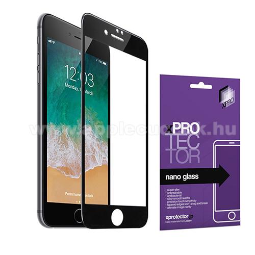 Xpro Flexible 9H Nano Glass rugalmas edzett üveg - FEKETE - 0,15 mm vékony, A TELJES KIJELZŐT VÉDI! - APPLE iPhone 7 Plus / APPLE iPhone 8 Plus - GYÁRI