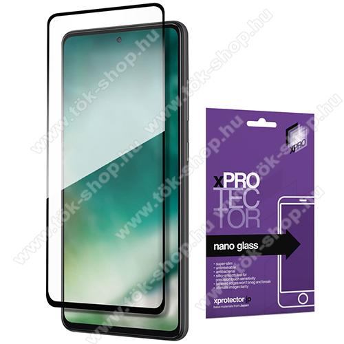 Xpro Flexible 9H Nano Glass rugalmas edzett üveg - FEKETE - 0,15 mm vékony, A TELJES KIJELZŐT VÉDI! - SAMSUNG Galaxy A72 5G (SM-A726F) / Galaxy A72 4G (SM-A725F) - GYÁRI