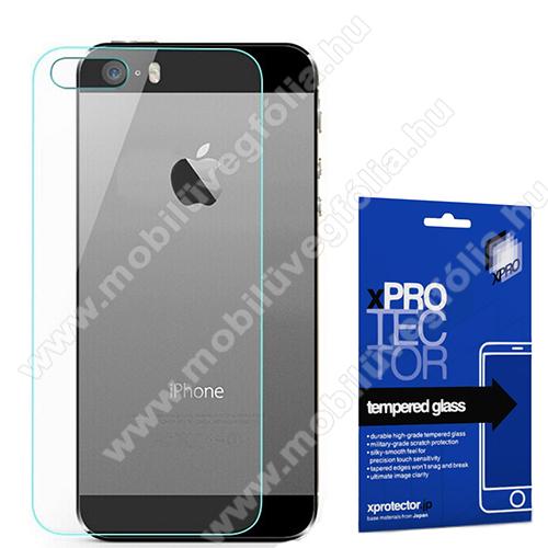Xpro hátlapvédő edzett üveg - 0,33 mm vékony, 9H, Arc Edge - APPLE iPhone 5 / iPhone 5S / iPhone SE (2016) - GYÁRI