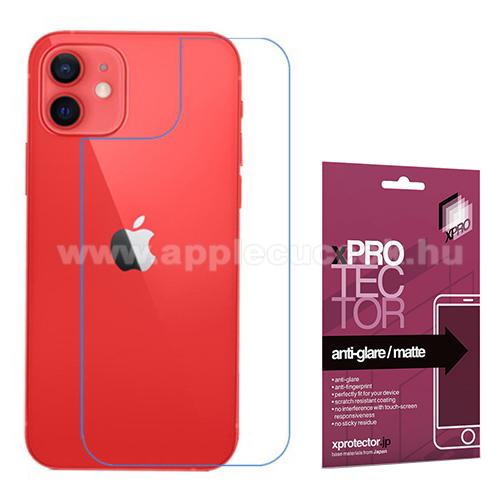 Xpro Hátlapvédő fólia - Anti-Glare - MATT! - 1db, törlőkendővel, A hátlap sík részét védi! - APPLE iPhone 12 mini - GYÁRI