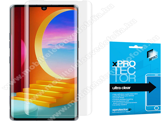 Xpro Hybrid képernyővédő fólia - Ultra Clear - 1db, A TELJES KÉPERNYŐT VÉDI! - LG Velvet 4G (LMG910EMW / LM-G910EMW) / LG Velvet 5G (LM-G900N / LM-G900EM) - GYÁRI