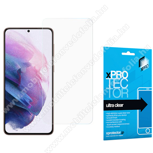 Xpro Hybrid képernyővédő fólia - Ultra Clear - 1db, A TELJES KÉPERNYŐT VÉDI! - SAMSUNG Galaxy S21 5G (SM-G991B/SM-G991B/DS) - GYÁRI