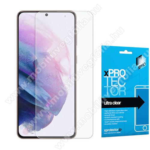 Xpro Hybrid képernyővédő fólia - Ultra Clear - 1db, A TELJES KÉPERNYŐT VÉDI! - SAMSUNG Galaxy S21 Plus 5G (SM-G996B/SM-G996B/DS) - GYÁRI