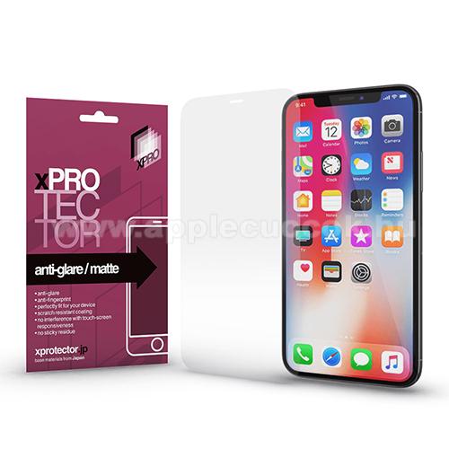 Xpro képernyővédő fólia - Anti-Glare - MATT! - 1db, törlőkendővel, A képernyő sík részét védi! - APPLE iPhone 12 Pro Max - GYÁRI