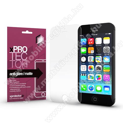 Xpro képernyővédő fólia - Anti-Glare - MATT! - 1db, törlőkendővel, A képernyő sík részét védi! - APPLE iPhone 5 / iPhone 5S / iPhone 5C / iPhone SE (2016) - GYÁRI