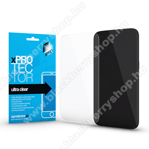 Xpro képernyővédő fólia - Clear - 1db, törlőkendővel - BLACKBERRY Keyone - GYÁRI