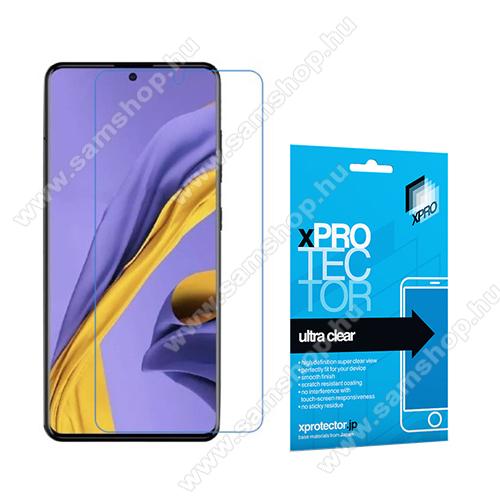 Xpro képernyővédő fólia - Clear - 1db, törlőkendővel, A képernyő sík részét védi! - SAMSUNG Galaxy A51 (SM-A515F) / SAMSUNG Galaxy A51 5G (SM-A516F) - GYÁRI