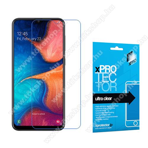 Xpro képernyővédő fólia - Clear - 1db, törlőkendővel, A képernyő sík részét védi! - SAMSUNG SM-A202F Galaxy A20e - GYÁRI