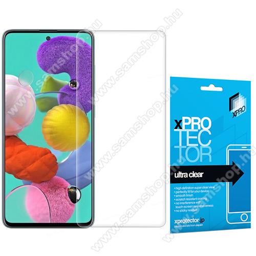 SAMSUNG Galaxy A21 (SM-A210F)Xpro képernyővédő fólia - Clear - 1db, törlőkendővel, A képernyő sík részét védi! - SAMSUNG SM-A217F Galaxy A21s / SAMSUNG Galaxy A21 (SM-A210F) - GYÁRI
