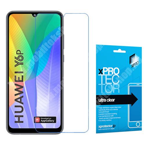 Xpro képernyővédő fólia - Clear - 1db, törlőkendővel, A képernyő sík részét védi! - HUAWEI Y6p - GYÁRI