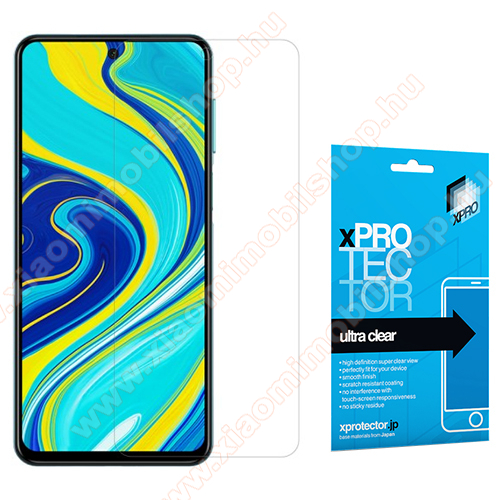 Xiaomi Poco M2 ProXpro képernyővédő fólia - Clear - 1db, törlőkendővel, A képernyő sík részét védi! - Xiaomi Redmi Note 9S / Redmi Note 9 Pro / Redmi Note 9 Pro Max / Poco M2 Pro - GYÁRI