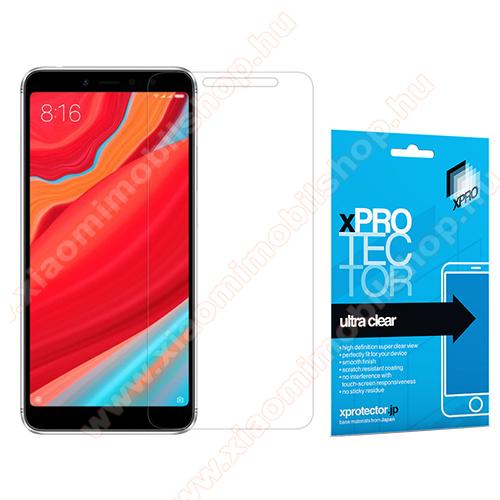 Xpro képernyővédő fólia - Clear - 1db, törlőkendővel, A képernyő sík részét védi! - Xiaomi Redmi S2 / Xiaomi Redmi Y2 - GYÁRI