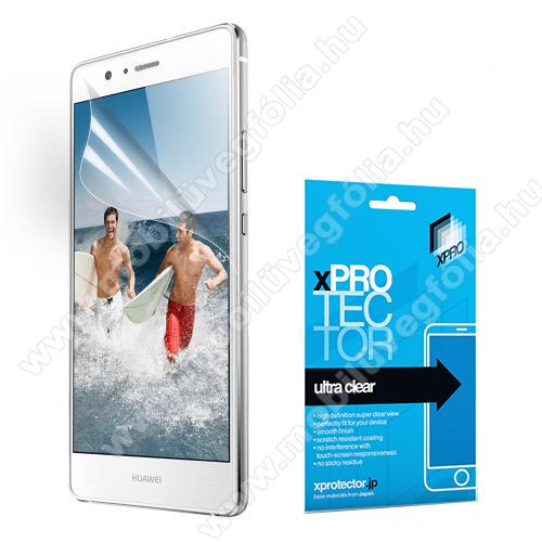 Xpro képernyővédő fólia - Clear - 1db, törlőkendővel, A képernyő sík részét védi! - HUAWEI P9 lite / HUAWEI G9 lite - GYÁRI