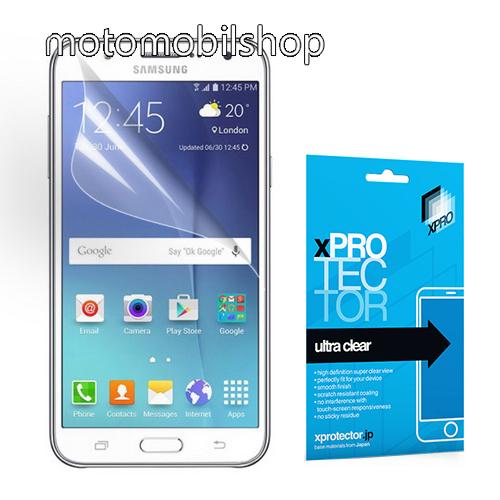 Xpro képernyővédő fólia - Clear - 1db, törlőkendővel, A képernyő sík részét védi! - SAMSUNG SM-J500F Galaxy J5 (2015) - GYÁRI