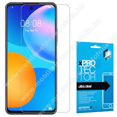 Xpro képernyővédő fólia - Clear - 1db, törlőkendővel, A képernyő sík részét védi! - HUAWEI P smart (2021) / HUAWEI Y7a / Honor 10X Lite - GYÁRI
