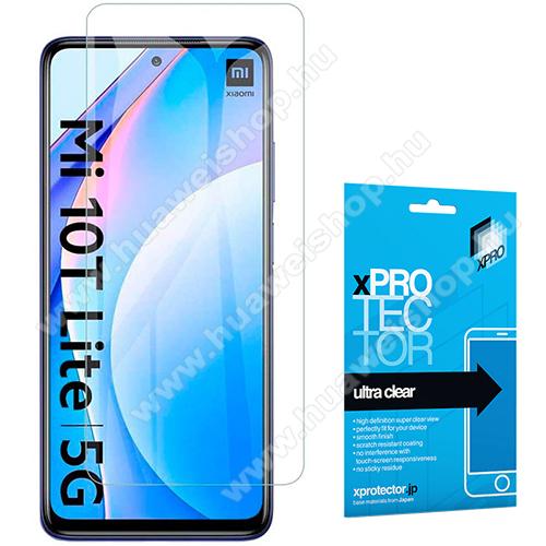 Xpro képernyővédő fólia - Clear - 1db, törlőkendővel, A képernyő sík részét védi! - Xiaomi Poco X3 / Poco X3 NFC / Mi 10T Lite 5G / Poco X3 Pro - GYÁRI