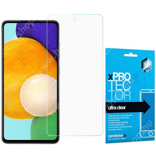 Xpro képernyővédő fólia - Clear - 1db, törlőkendővel, A képernyő sík részét védi! - SAMSUNG Galaxy A52 5G (SM-A526F) / Galaxy A52 4G (SM-A525F) - GYÁRI