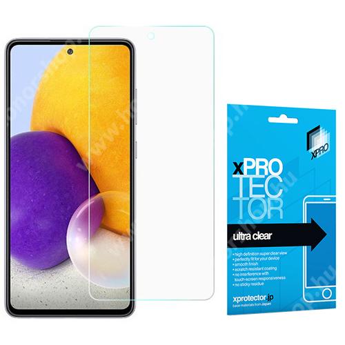 Xpro képernyővédő fólia - Clear - 1db, törlőkendővel, A képernyő sík részét védi! - SAMSUNG Galaxy A72 5G (SM-A726F) / Galaxy A72 4G (SM-A725F) - GYÁRI