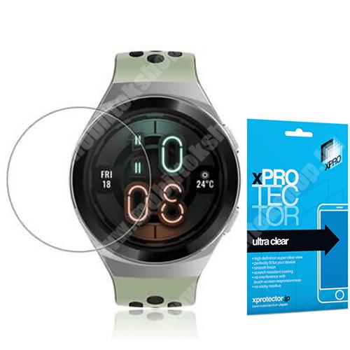 Xpro okosóra képernyővédő fólia - CLEAR - 1db, törlőkendővel, A képernyő sík részét védi! - HUAWEI Watch GT 2e - GYÁRI