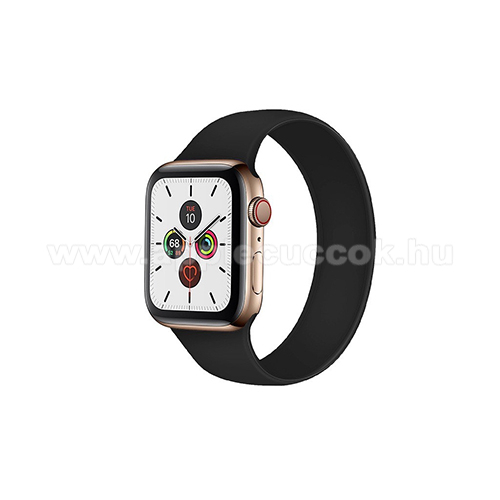 APPLE Watch Series 4 40mm Xpro okosóra szíj - FEKETE - solo szilikon körpánt - L-es méret, 150mm hosszú - Apple Watch Series 1/2/3 38mm / APPLE Watch Series 4/5/6 40mm / Watch SE 40mm - GYÁRI