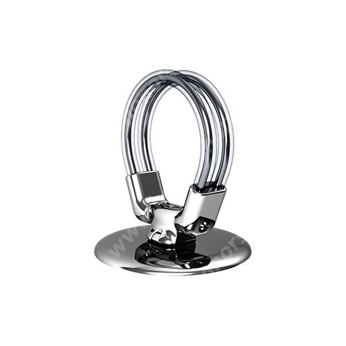 HUAWEI Honor 10 XPRO Smart Ring R1 fém ujjtámasz, gyűrű tartó - Biztos fogás készülékéhez, asztali tartó funkció, 360°-ban forgatható - EZÜST - GYÁRI