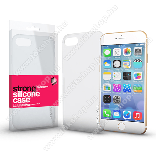Xpro szilikon védő tok / hátlap - STRONG 2mm - ÁTLÁTSZÓ - APPLE iPhone 6 / APPLE iPhone 6s - GYÁRI